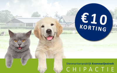 Juni chipmaand: 10 euro korting op chip huisdieren