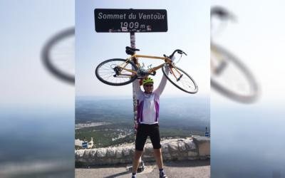 Veearts Harm Stokman beklimt Mont Ventoux voor het goede doel